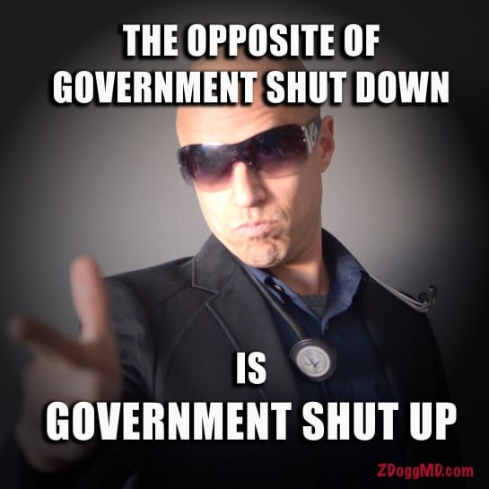 Government Shutdown Shut up