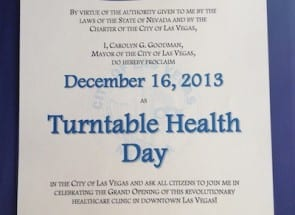Turntable Health Day Las Vegas