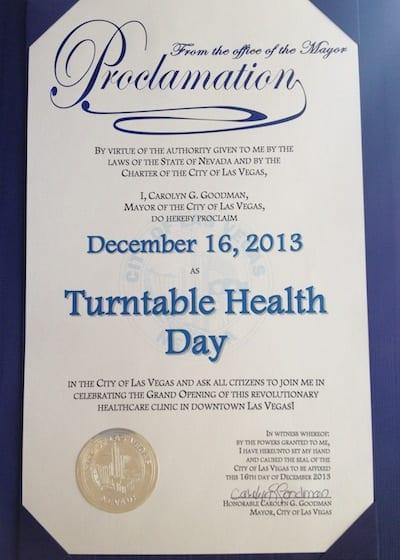 Turntable Health Day Las Vegas