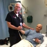 """Chief of Staff Dr. Dale Carrison stops in to say """"don't break my ER"""""""