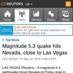 A 5.3 mag earthquake struck Vegas while we were shooting on the helipad. Omen?